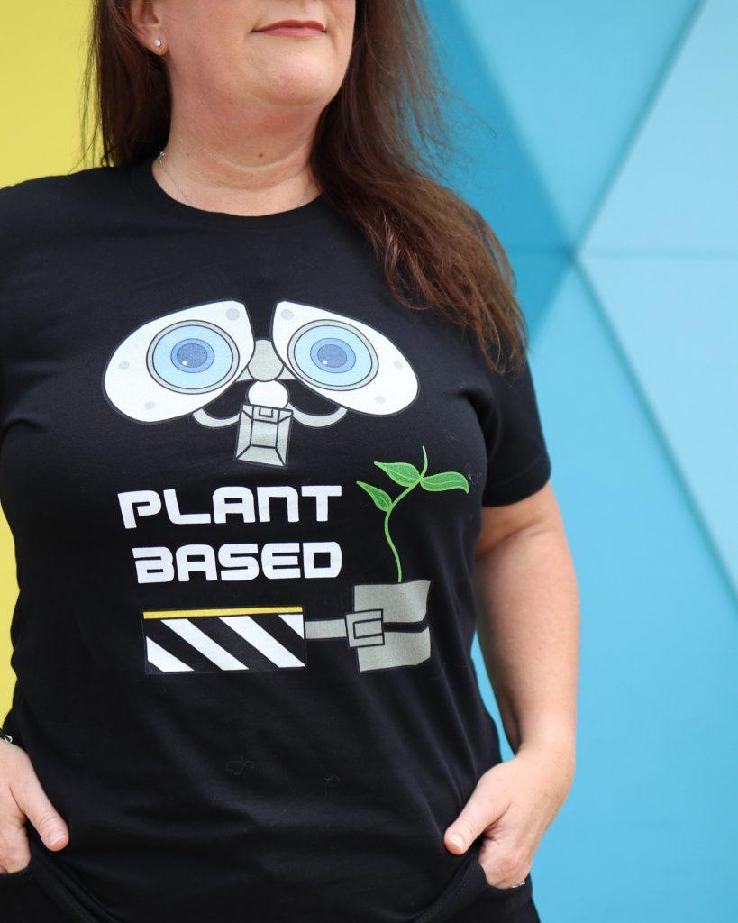 Vegan Disney Plant Based Wall-e shirt