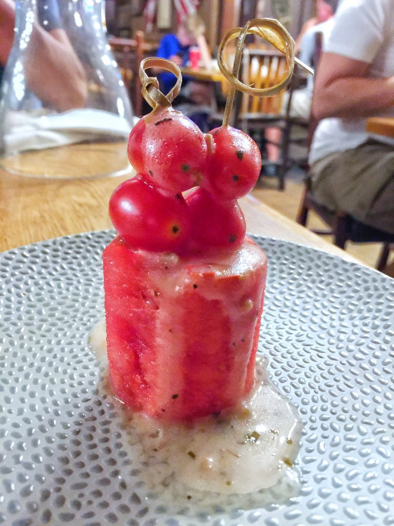 An Epic Vegan Food Review: Trail's End Restaurant Dinner at Disney's Fort Wilderness Resort and Campground with Chef TJ - Smoked Watermelon