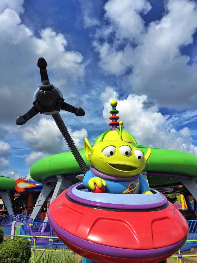 Alien Swirling Saucers in Walt Disney World's Toy Story Land