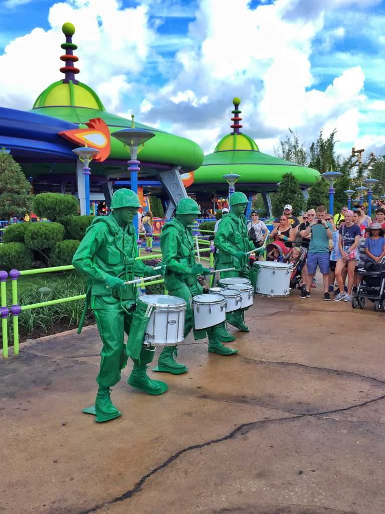 Green Army Men Drum Corps in Walt Disney World's Toy Story Land