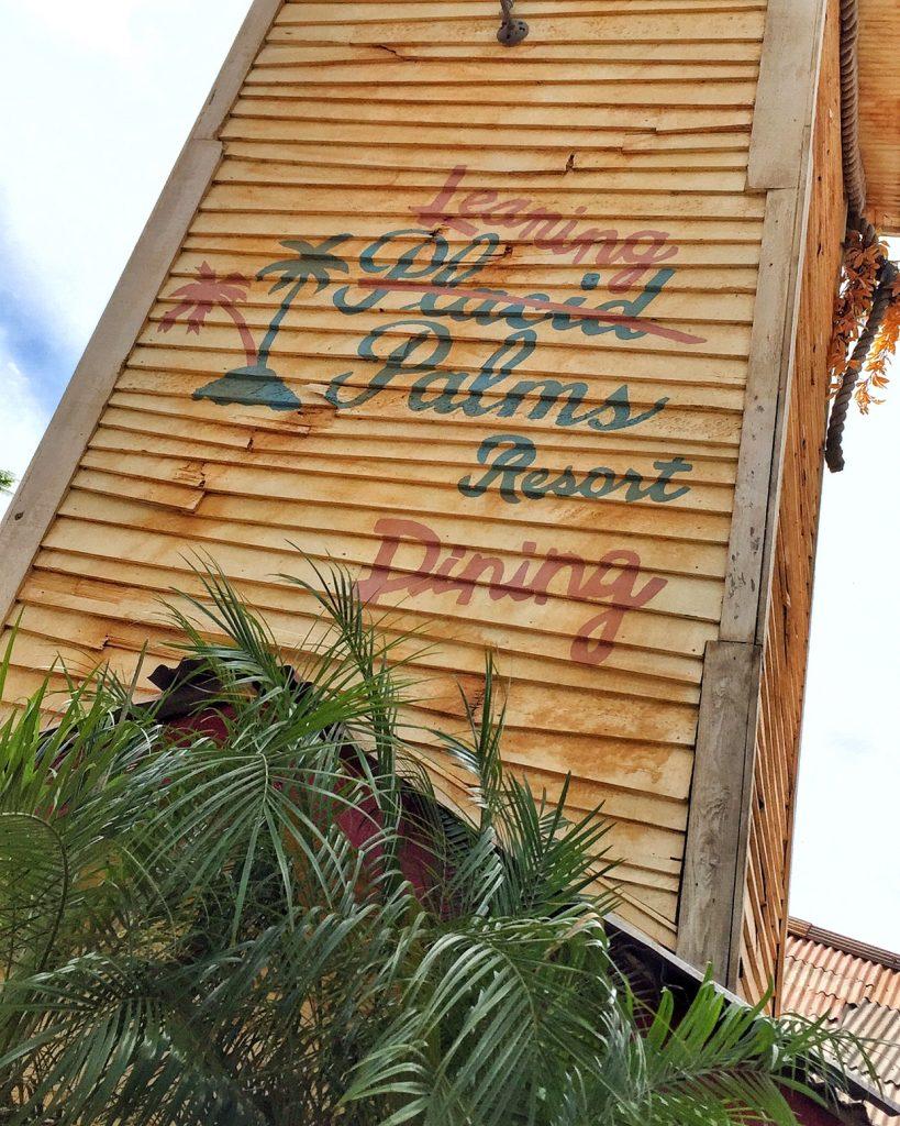 H2O Glow Nights at Disney's Typhoon Lagoon - Leaning Palms
