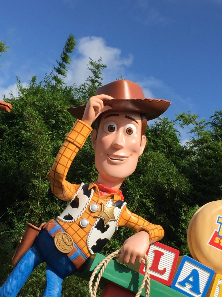 Cowboy Woody in Walt Disney World's Toy Story Land