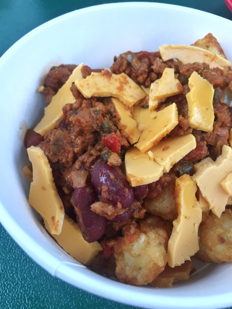 Vegan Totchos at Woody's Lunch Box in Walt Disney World's Toy Story Land