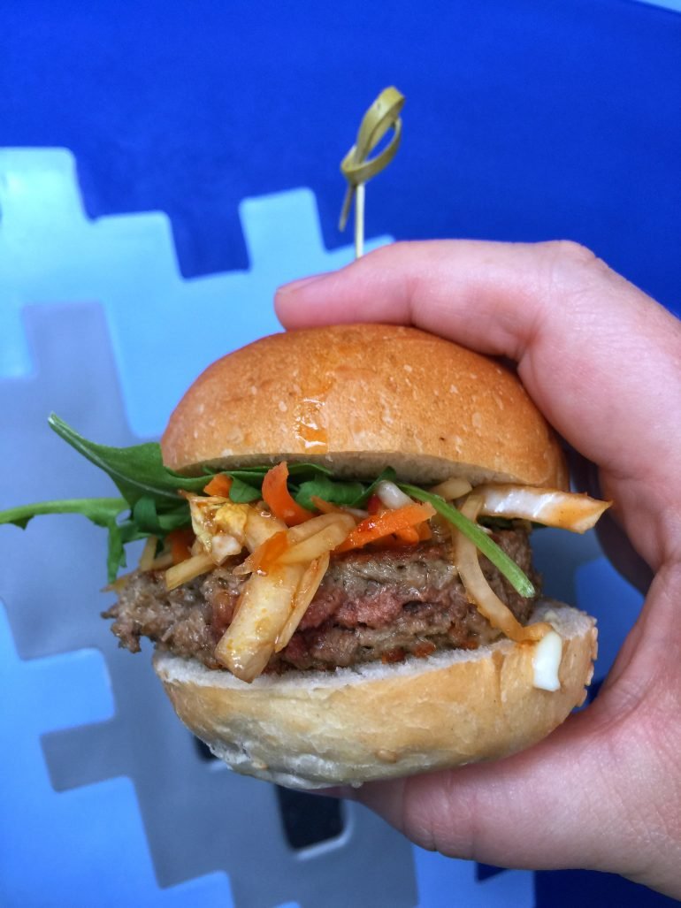 Vegan Impossible Slider at the Epcot International Food and Wine Festival in Walt Disney World