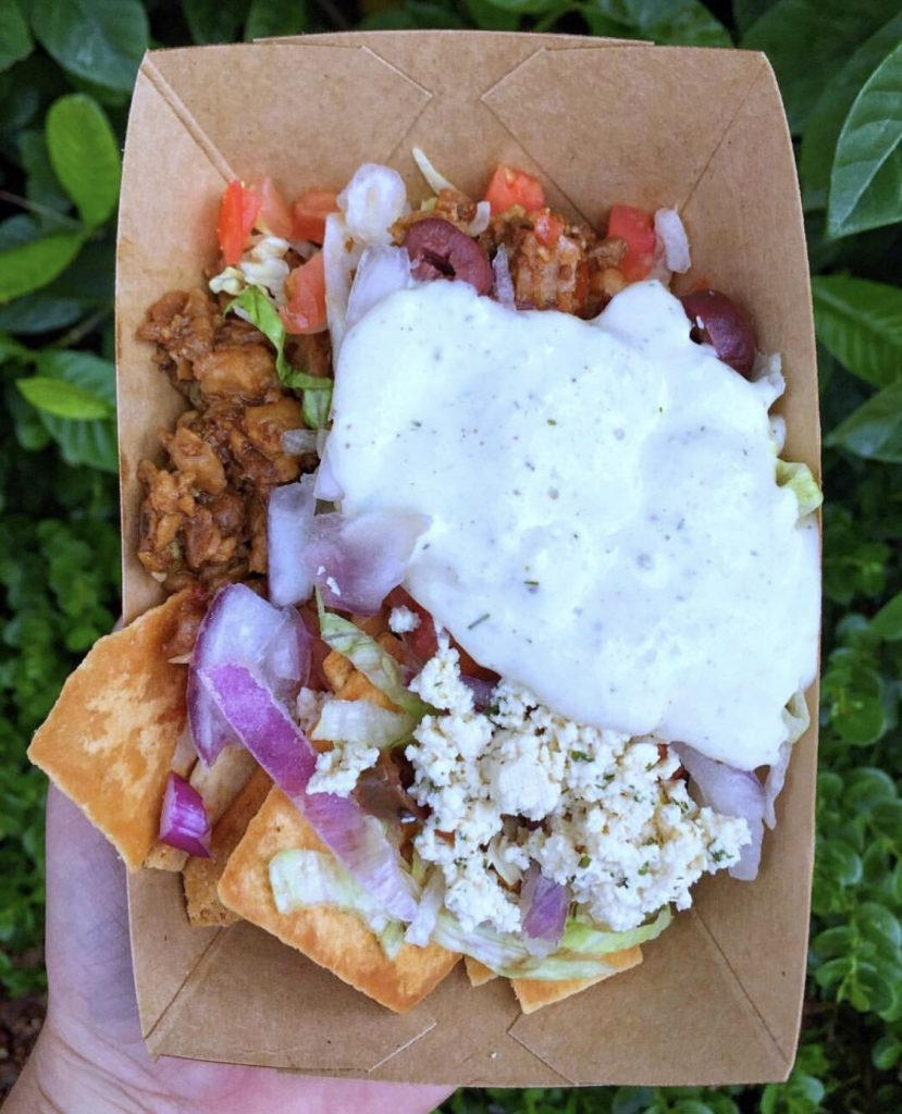 Loaded Greek Nachos at the Epcot International Food and Wine Festival in Walt Disney World