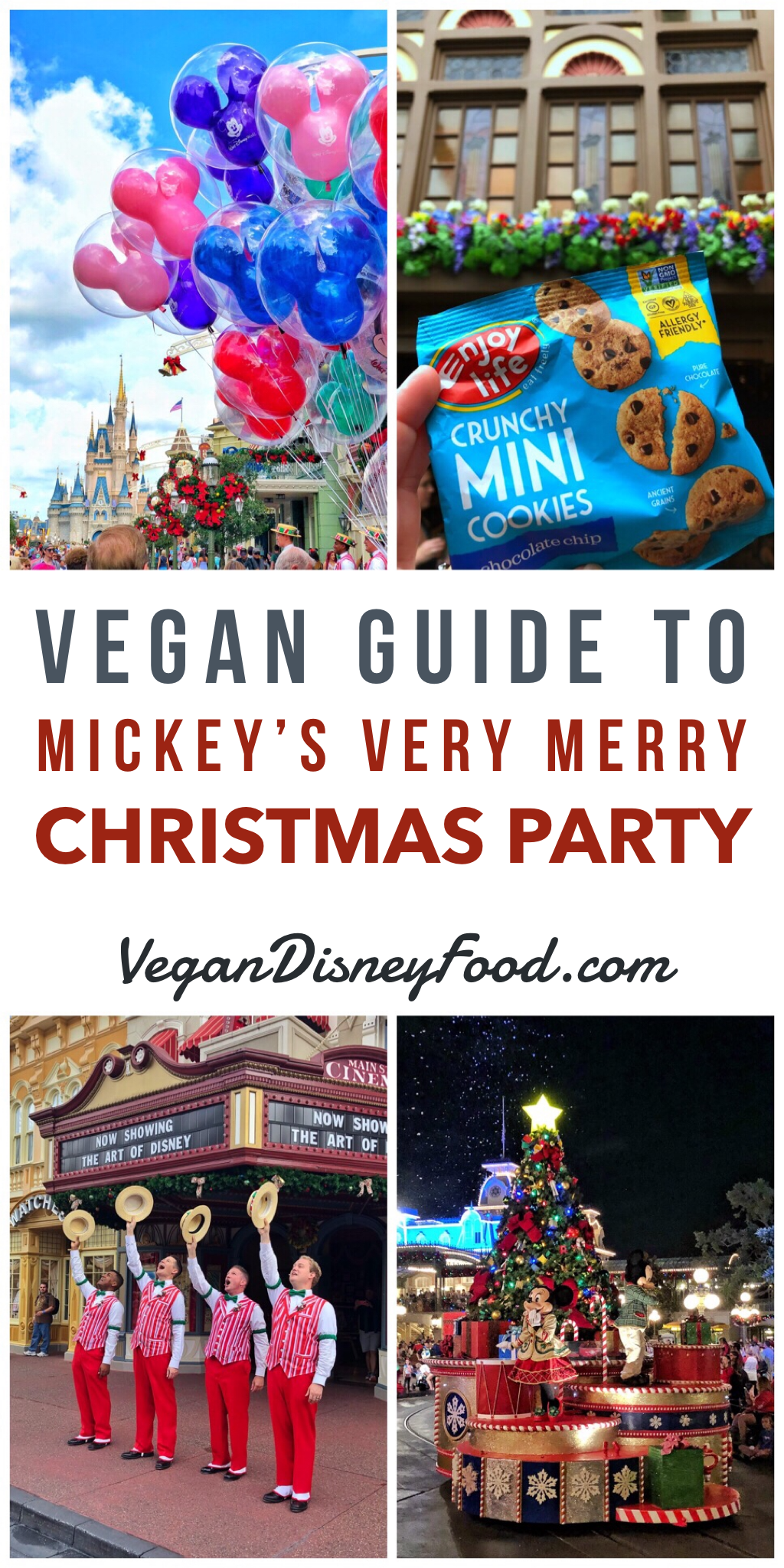 Vegan Food Guide to Mickey's Very Merry Christmas Party in the Magic Kingdom at Walt Disney World
