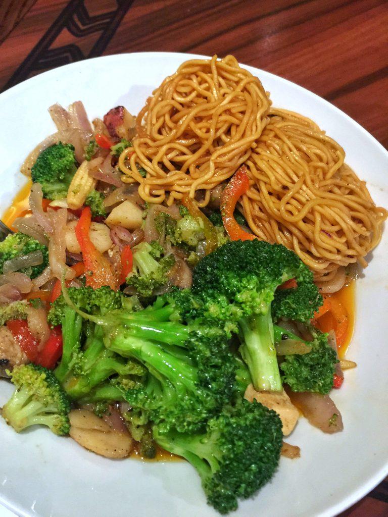 Vegan Disney Food Review: Dinner at 'Ohana in Disney's Polynesian Village Resort