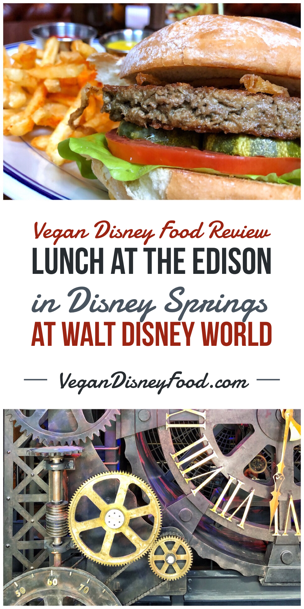 Vegan Disney Food Review: Lunch at The Edison in Disney Springs at Walt Disney World