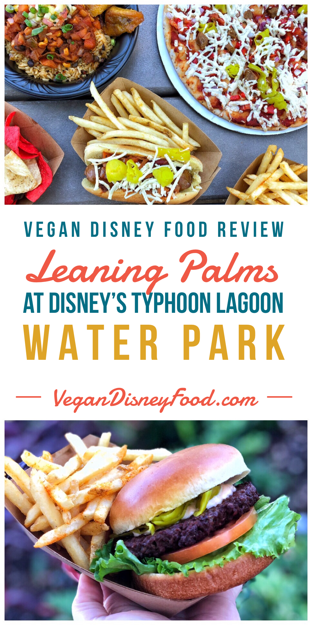 Vegan Disney Food Review: Leaning Palms at Disney's Typhoon Lagoon Water Park In Walt Disney World