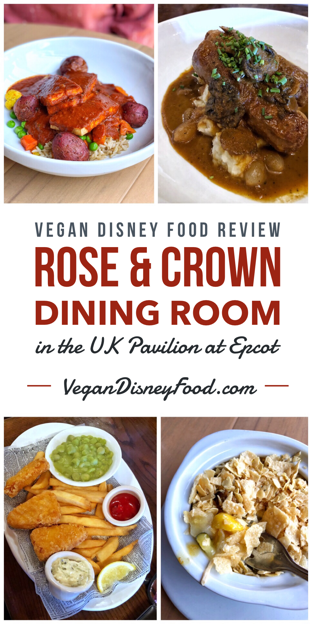 Vegan Disney Food Review: Rose & Crown Dining Room in the UK Pavilion at Epcot
