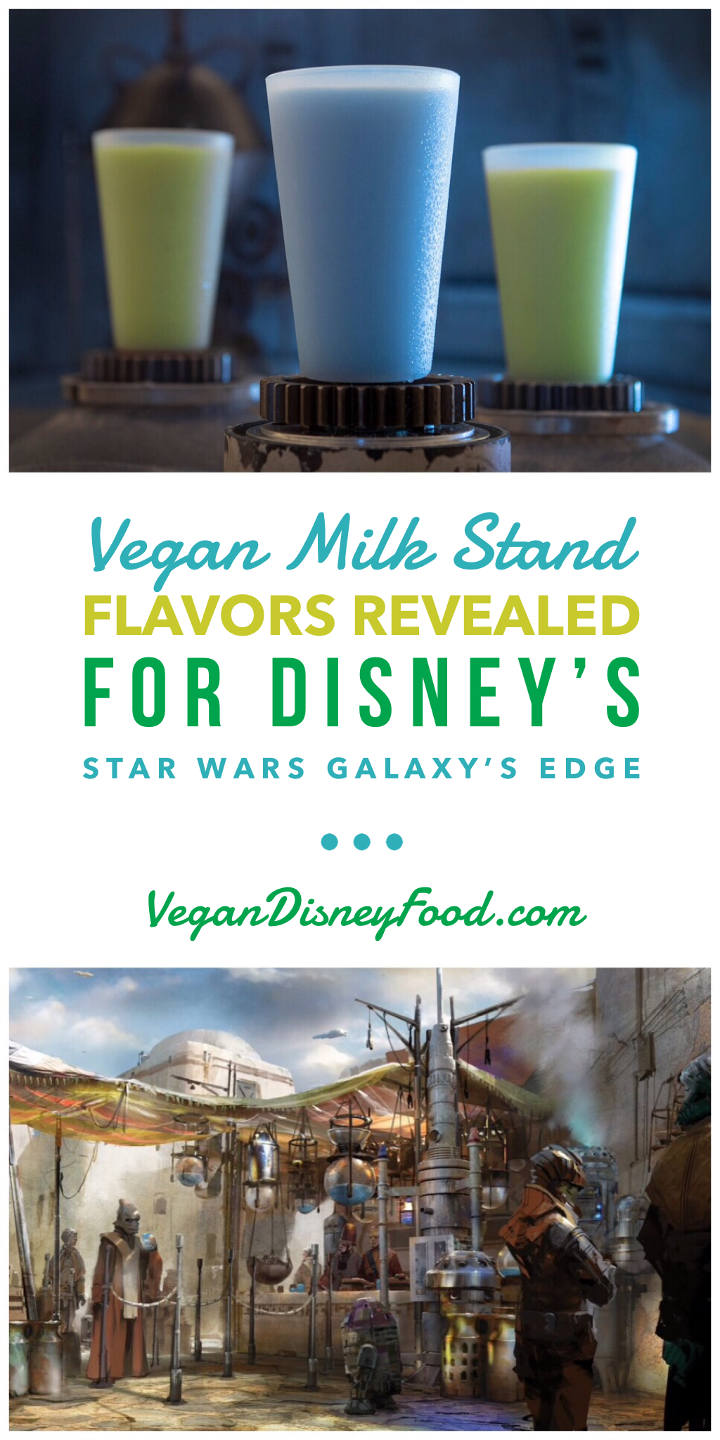 Vegan Milk Stand Flavors Revealed for Disney's Star Wars Galaxy's Edge