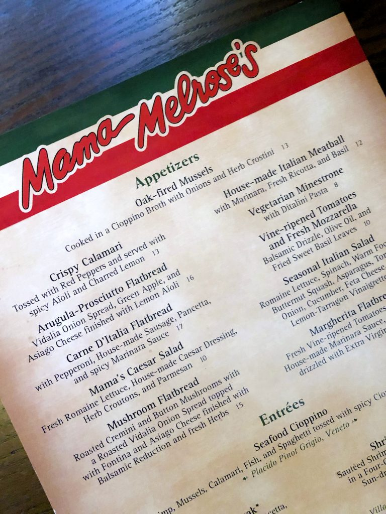 Vegan Disney Food Review: Mama Melrose's in Disney's Hollywood Studios