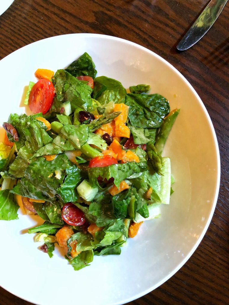Vegan Disney Food Review: Mama Melrose's in Disney's Hollywood Studios Seasonal Italian Salad
