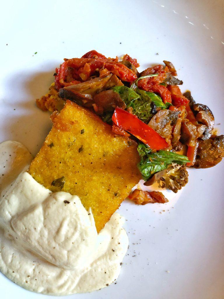 Vegan Disney Food Review: Mama Melrose's in Disney's Hollywood Studios Polenta with Cashew Cheese