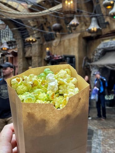 What's Vegan at Disney's Star Wars: Galaxy's Edge? - Kat Saka's Kettle Galaxy Grains Popcorn