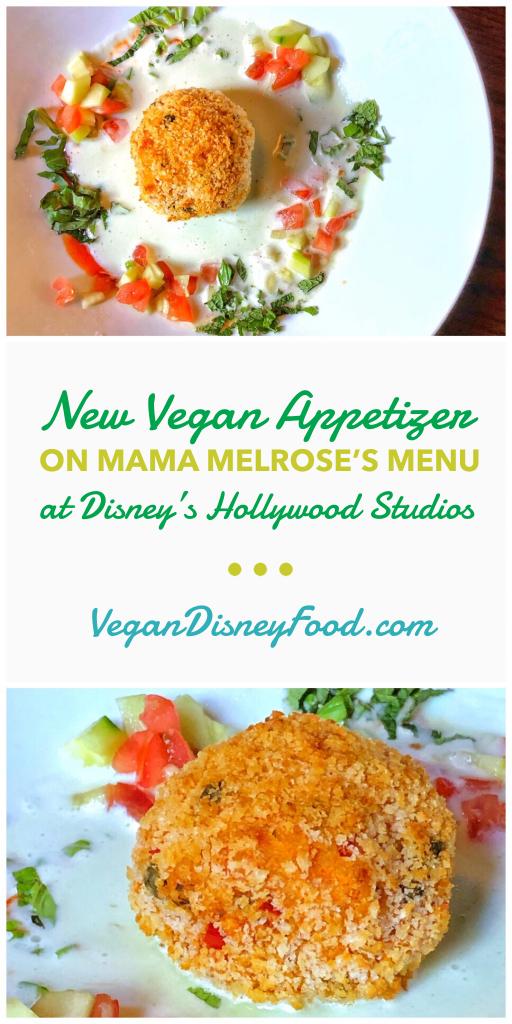 Plant-based Vegan Arancini at Mama Melrose's in Disney's Hollywood Studios
