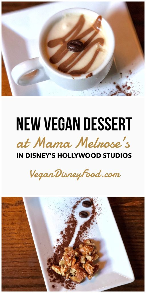 Vegan Cappuccino Affogato at Mama Melrose's in Disney's Hollywood Studios