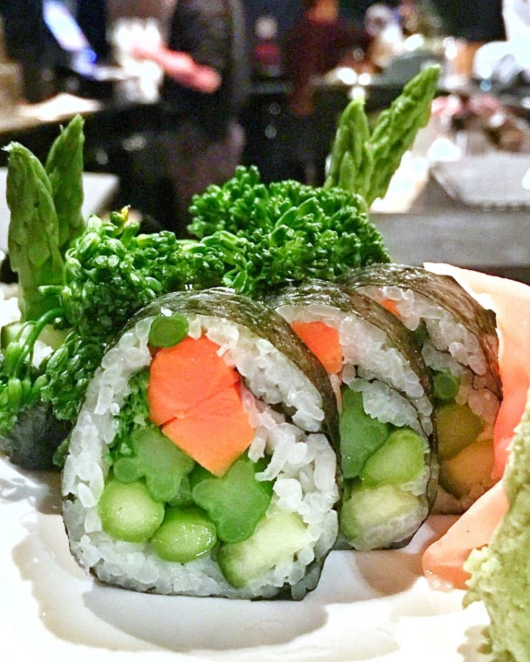 Vegan Walt Disney World - Ichiban Sushi Roll from Kimonos in the Swan