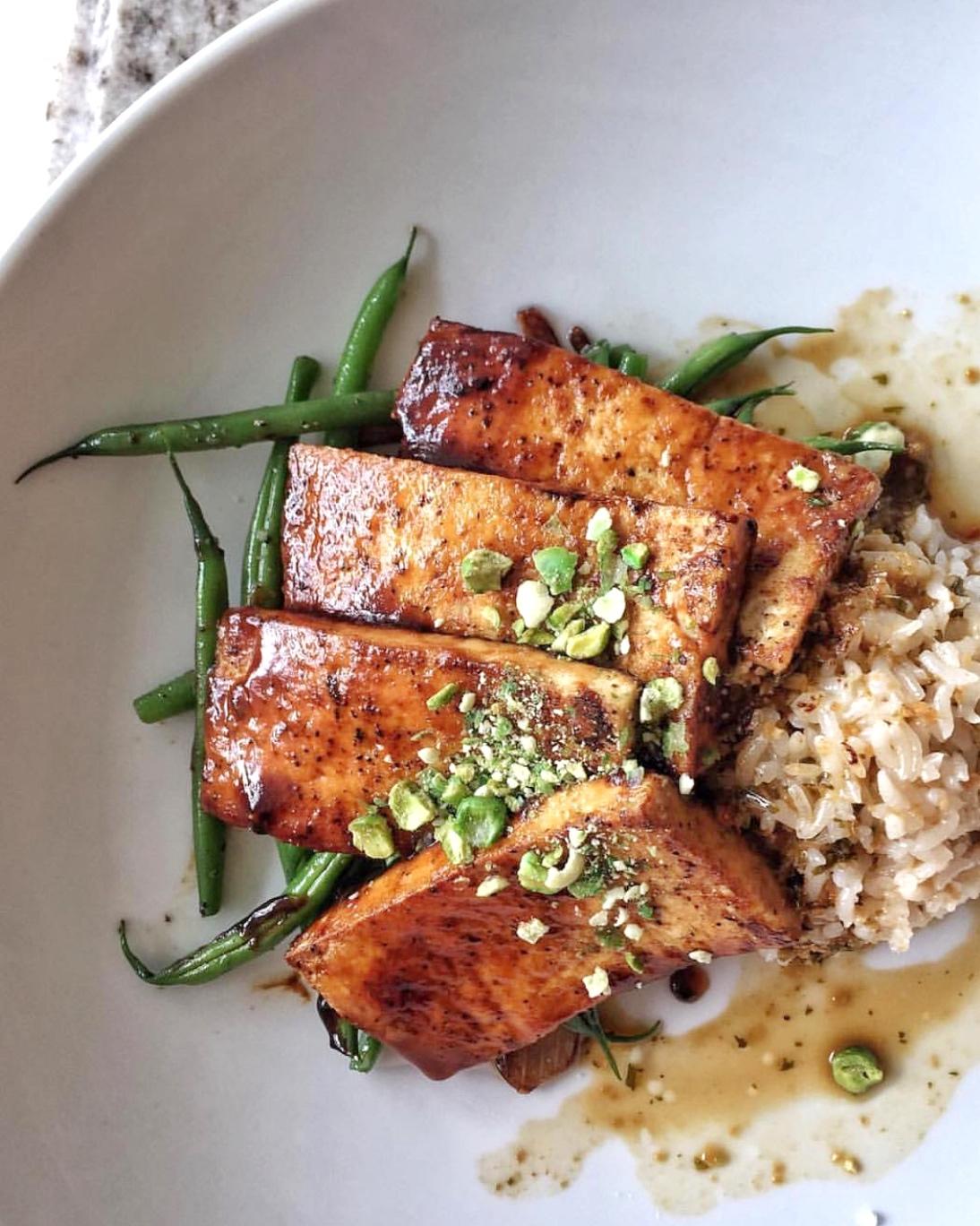 Vegan at Walt Disney World - Grand Floridian Cafe - Miso Glazed Tofu