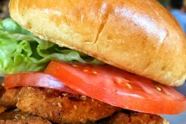 Vegan at Walt Disney World - Fried Chicken Sandwich at Homecomin Kitchen in Disney Springs