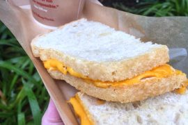 Vegan at Walt Disney World - Vegan Grilled Cheese Sandwich at Woody's Lunch Box in Disney's Hollywood Studios