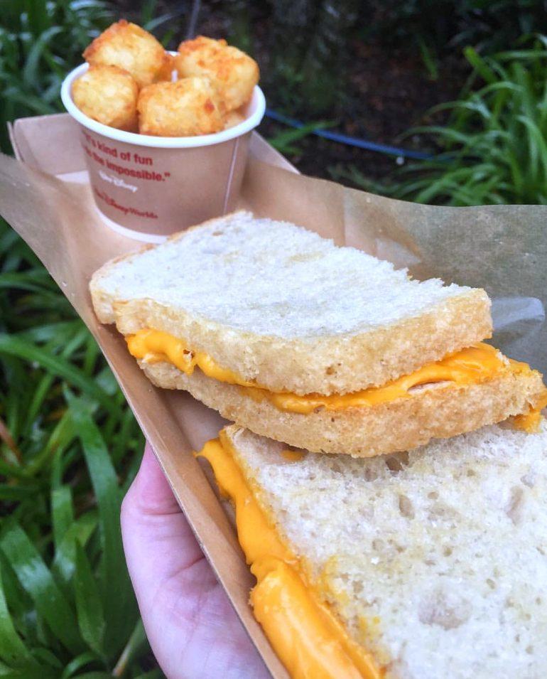 Vegan at Walt Disney World - Vegan Grilled Cheese Sandwich at Woody's Lunch Box in Disney's Hollywood Studios