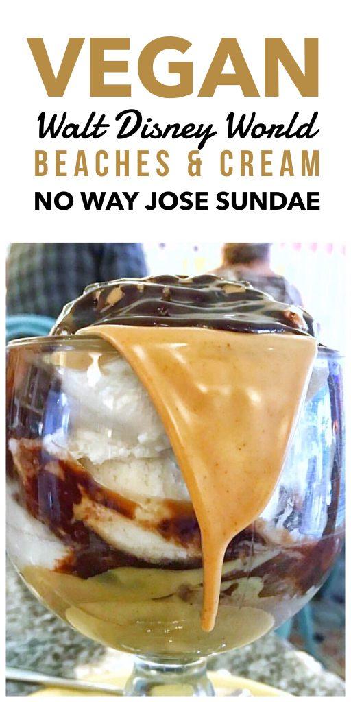 Vegan Walt Disney World - Beaches & Cream Soda Shop No Way Jose Vegan Ice Cream Sundae