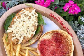 Vegan at Walt Disney World - Vegan Chicken Sandwich at the Grand Floridian Resort and Spa