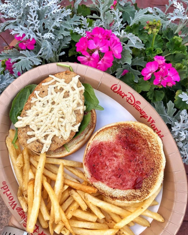 Vegan at Walt Disney World - Vegan Chicken Sandwich at the Grand Floridian Resort and Spa