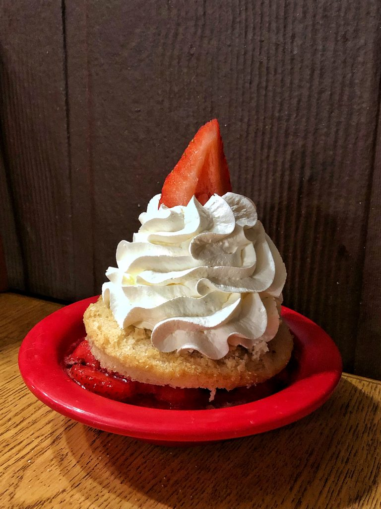 Vegan at Trails End at Disney's Ft Wilderness Resort and Campground {Without Chef TJ} - Strawberry Shortcake