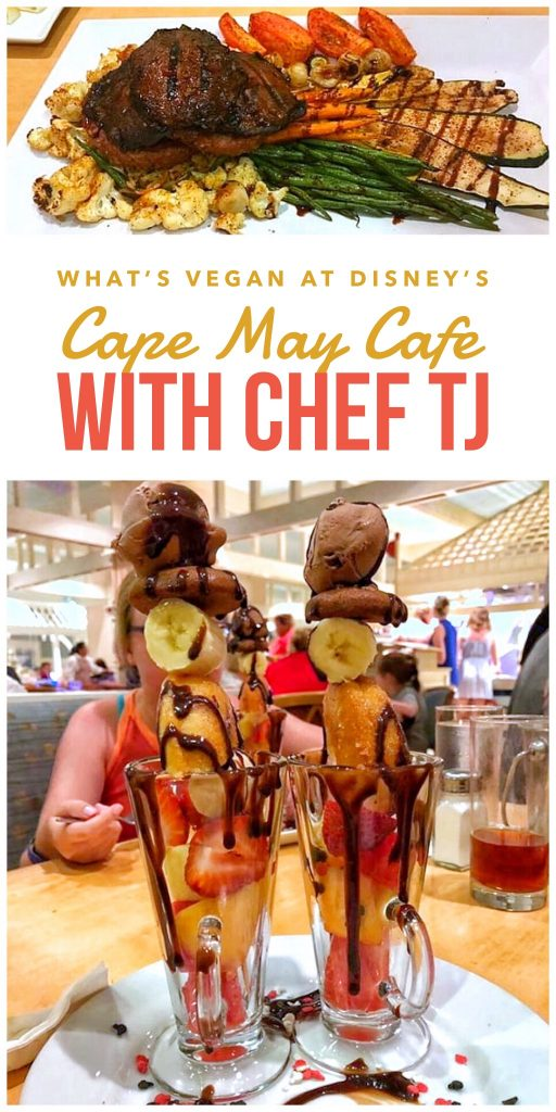 What's Vegan at Disney's Cape May Cafe with Chef TJ at the Beach Club Resort in Walt Disney World
