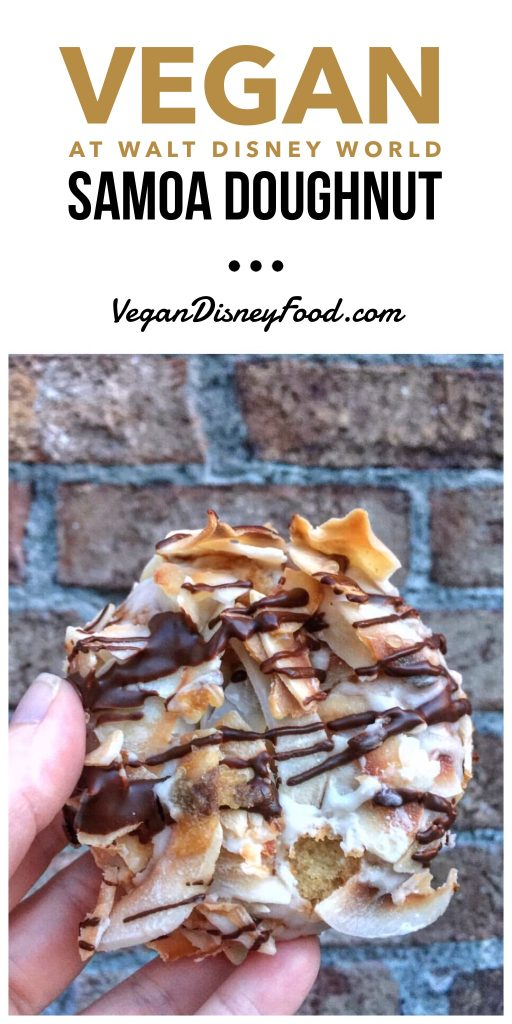 Vegan at Walt Disney World - Samoa Doughnut from Erin McKenna's Bakery in Disney Springs