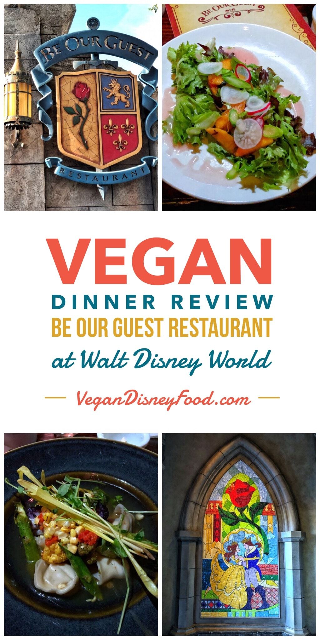 Vegan Dinner Review of Be Our Guest Restaurant in the Magic Kingdom at Walt Disney World