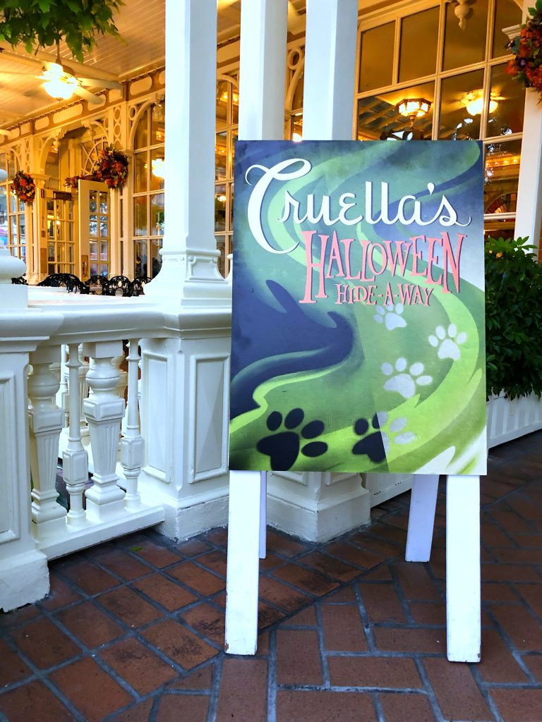 Vegan Options at Cruella's Halloween Hide-A-Way in the Magic Kingdom during Mickey's Not So Scary Halloween Party