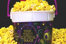 Vegan at Disneyland - Main Street Electrical Parade Popcorn Bucket