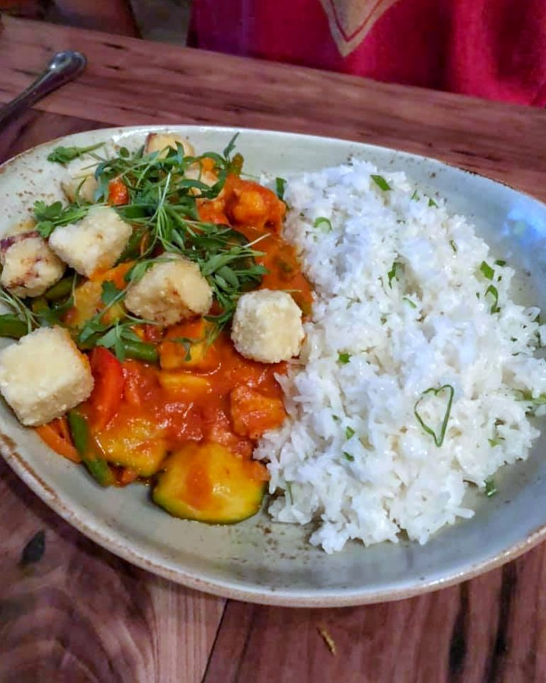 Vegan at Walt Disney World - Curried Vegetable Crew Stew in the Magic Kingdom