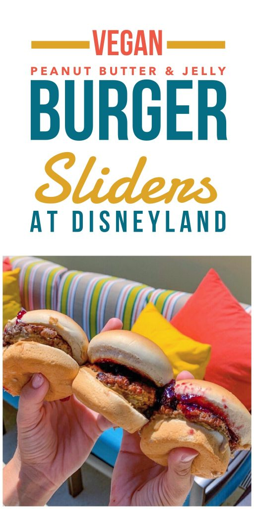 Vegan Peanut Butter & Jelly Burger Sliders at The Sand Bar in Disneyland