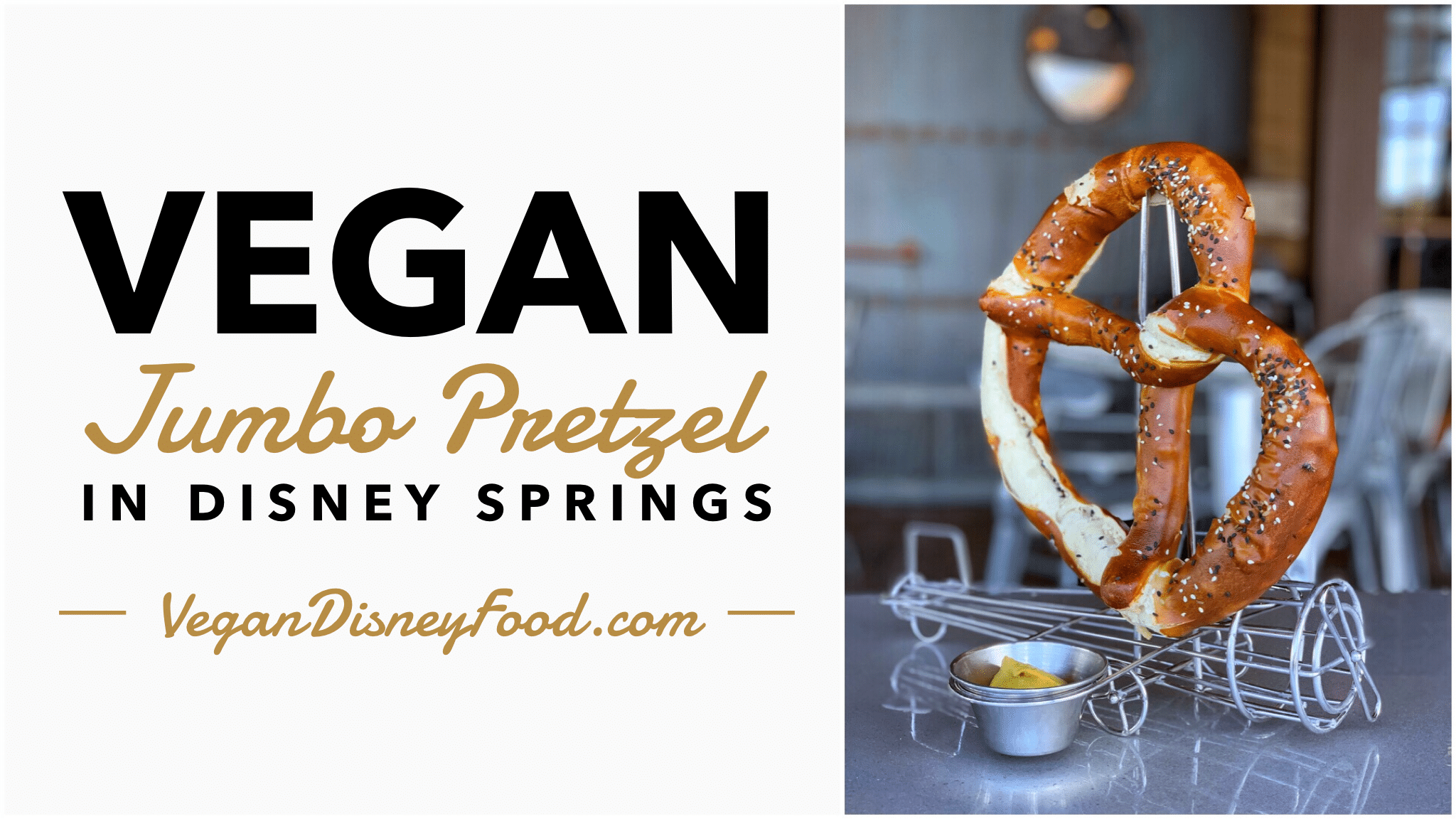 Vegan Jumbo Pretzel at Jock Lindsey's Hangar Bar in Disney Springs at Walt Disney World