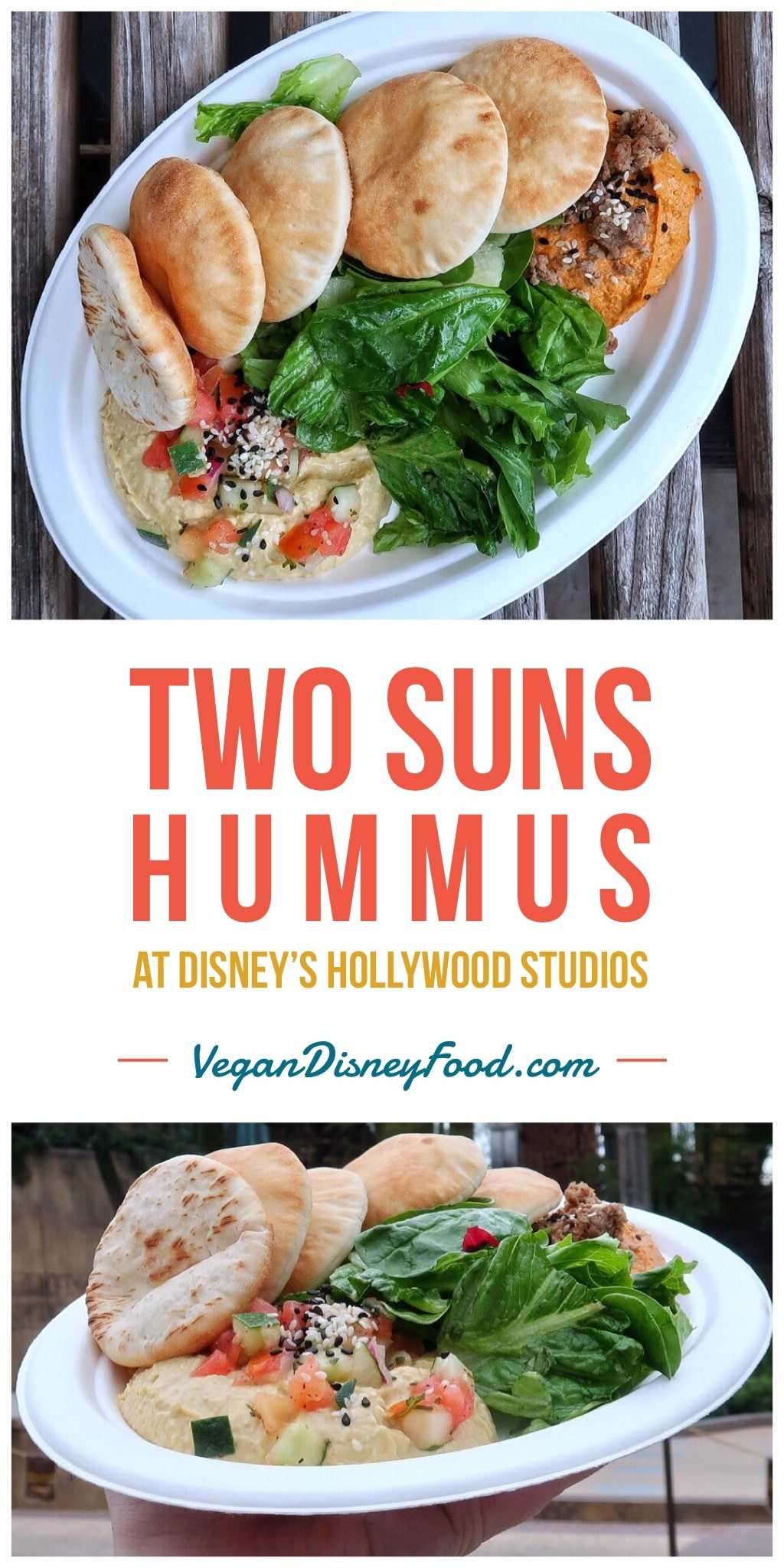 Vegan Two Suns Hummus at Backlot Express in Disney's Hollywood Studios at Walt Disney World