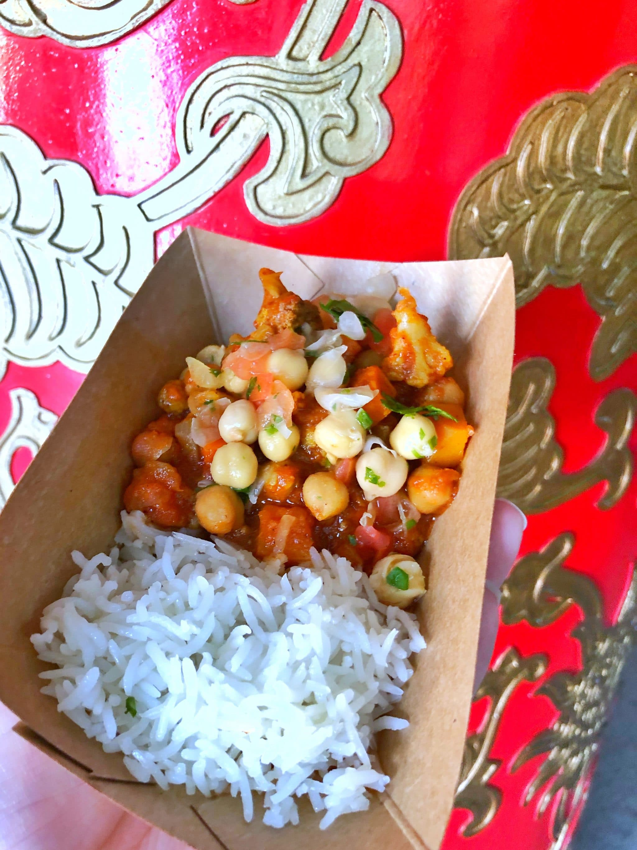 Vegan Options at the Epcot International Food and Wine Festival at Walt Disney World - Madras Red Curry
