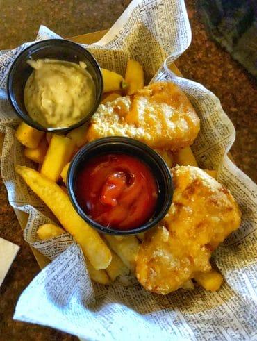 Vegan Walt Disney World - Fish and Chips at Rose & Crown Pub in Epcot