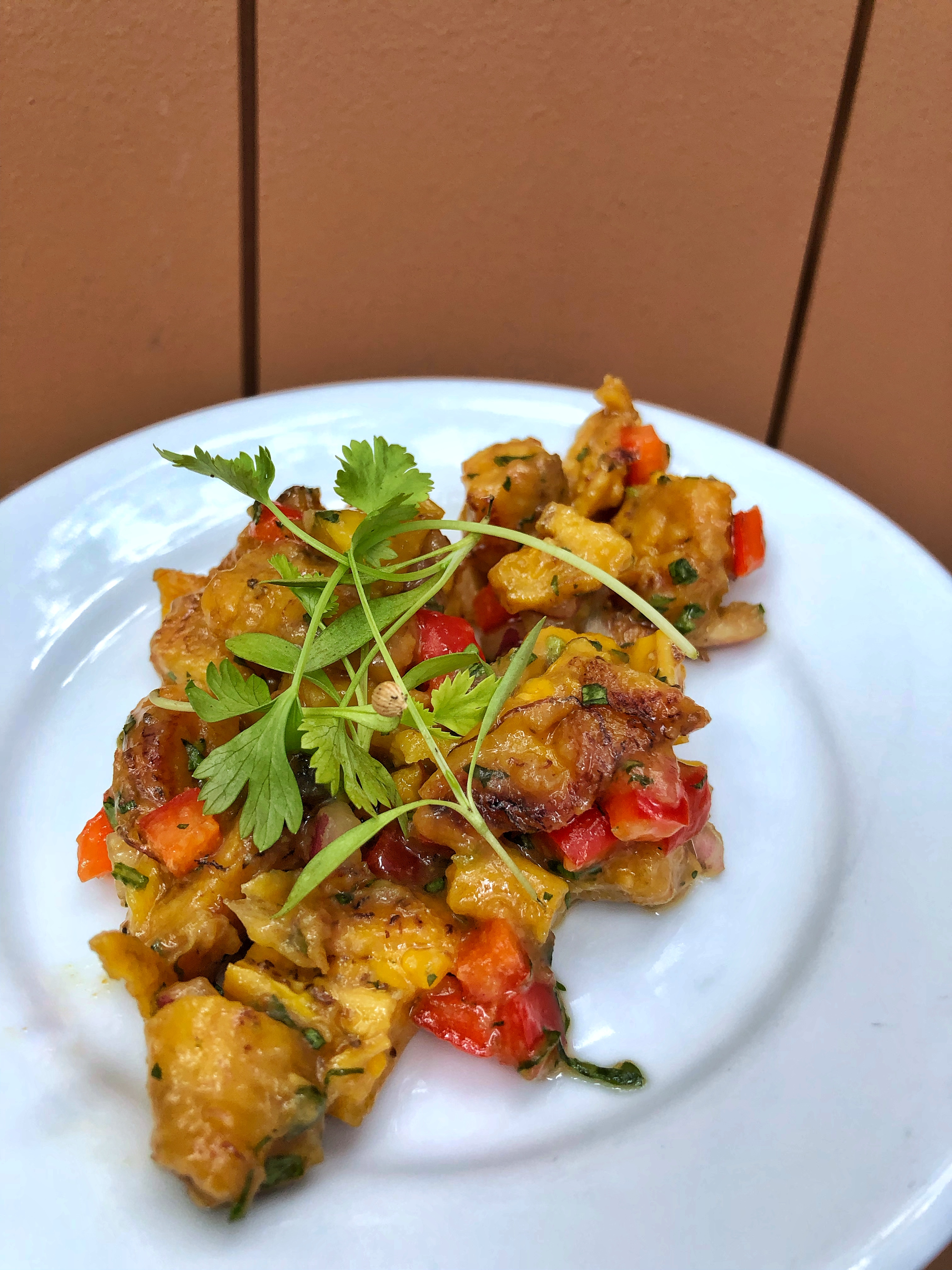 Vegan Options at the Epcot International Food and Wine Festival - Modified Plantain Salad