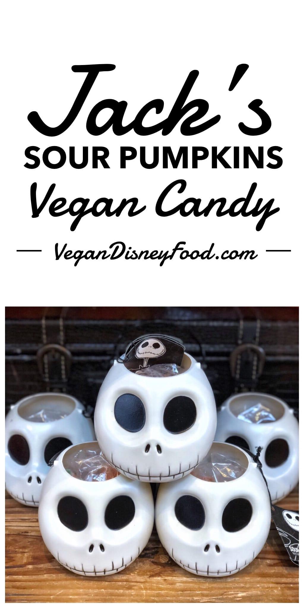 Jack's Sour Pumpkin Vegan Gummies Halloween Candy at Walt Disney World