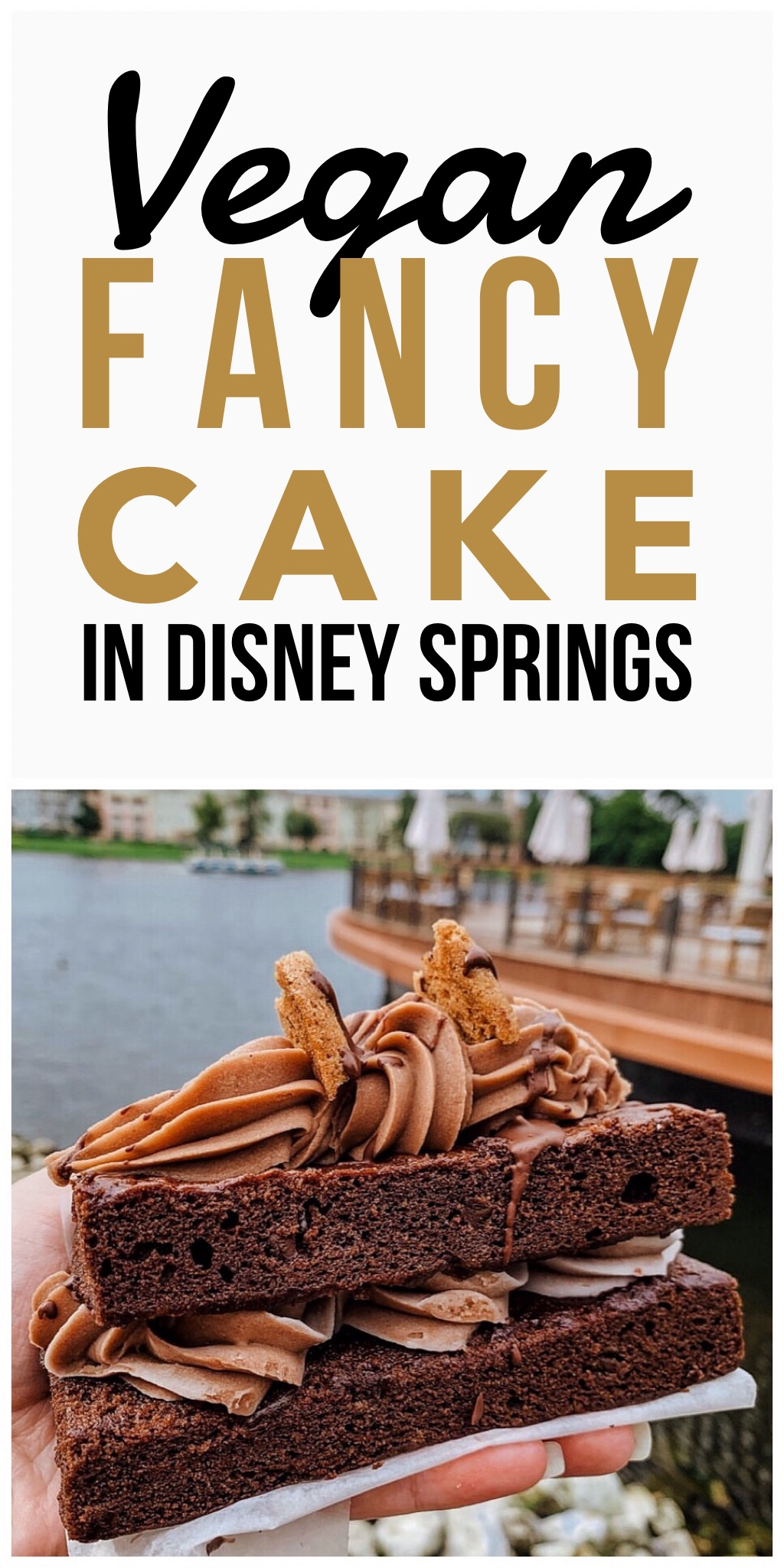 Vegan Chocolate Fancy Cake at Erin McKenna's Bakery in Disney Springs