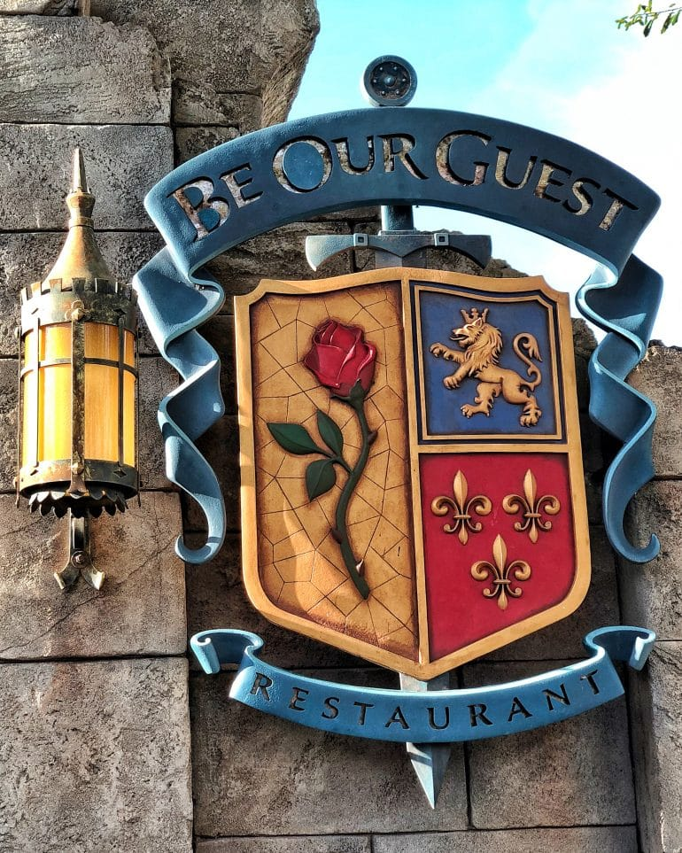 Vegan Dinner Review of Be Our Guest Restaurant at the Magic Kingdom in Walt Disney World