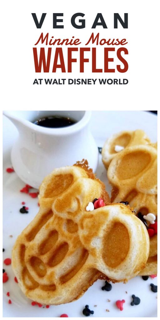 Vegan at Walt Disney World - Minnie Mouse Waffles at Chef Mickey's