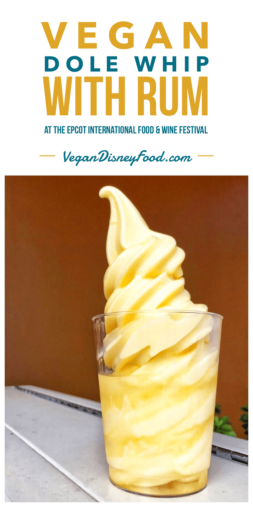Vegan Dole Whip with Rum at the 2019 Epcot International Food and Wine Festival at Walt Disney World