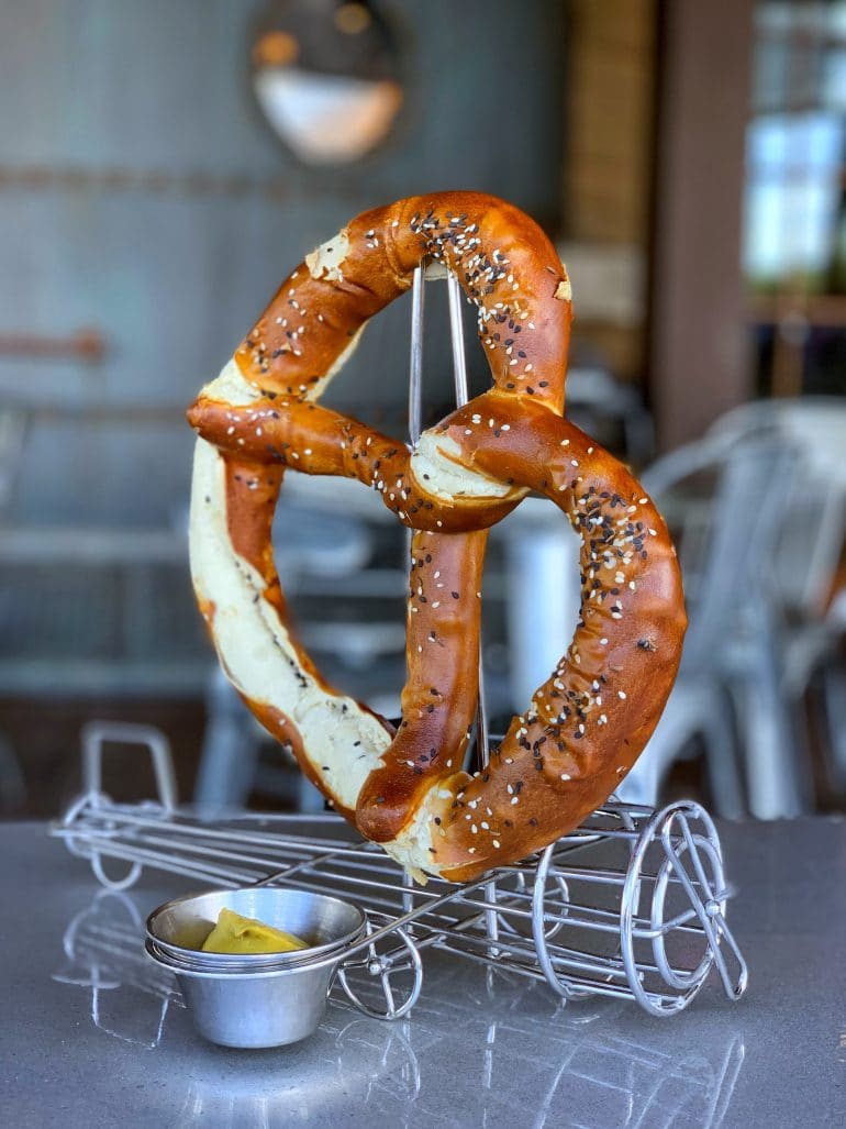 Vegan Jumbo Pretzel at Jock Lindsey's Hangar Bar in Disney Springs