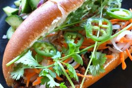 Vegan Banh Mi at Lucky Fortune Cookery in Disney California Adventure