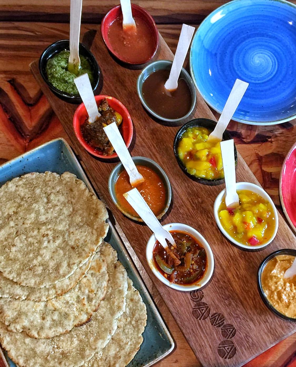 Vegan at Walt Disney World - Indian Style Bread Service at Sanaa in Animal Kingdom Lodge